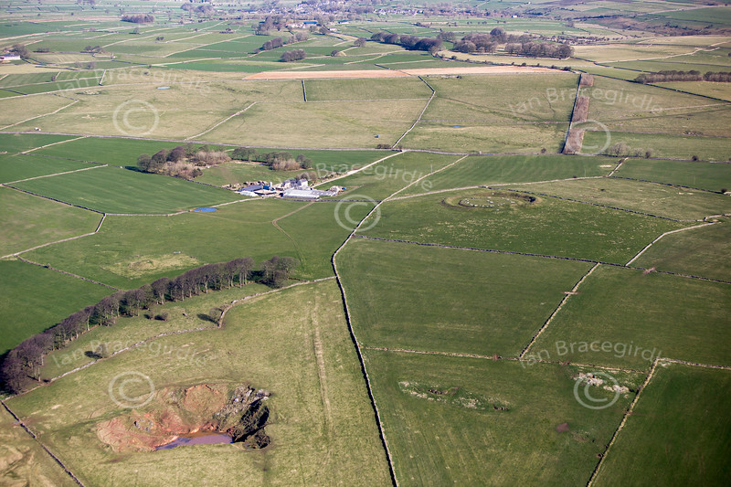 Derbyshire Earthworks from the air.