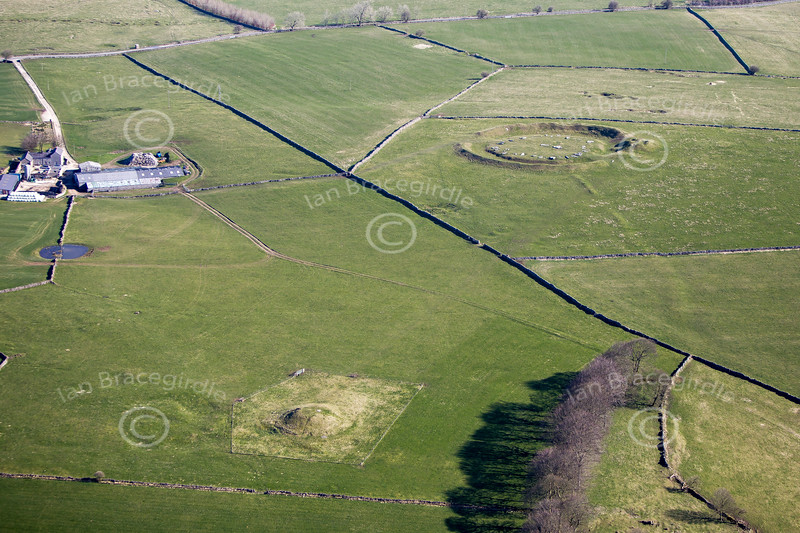 Gib Hill Barrow from the air.
