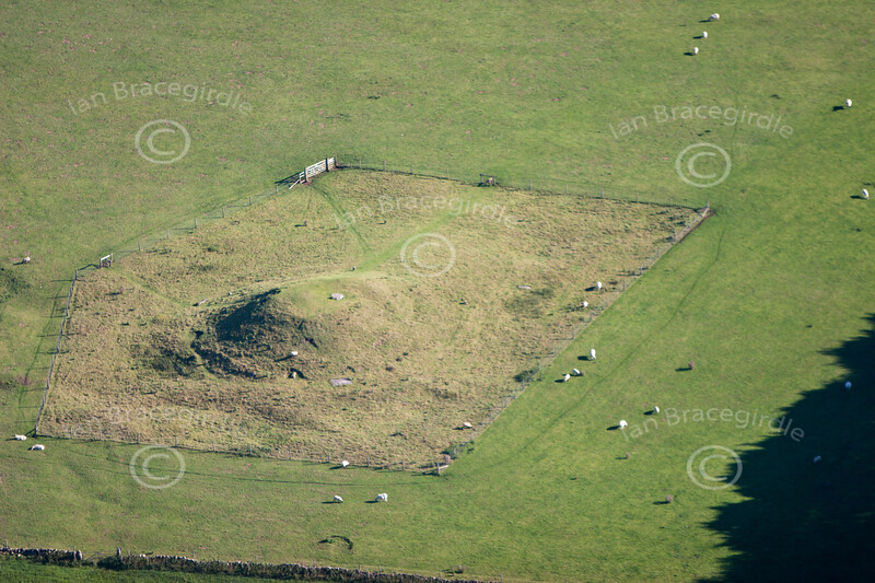 Gib Hill Barrow from the air.