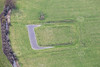 Aerial photo of a moat.