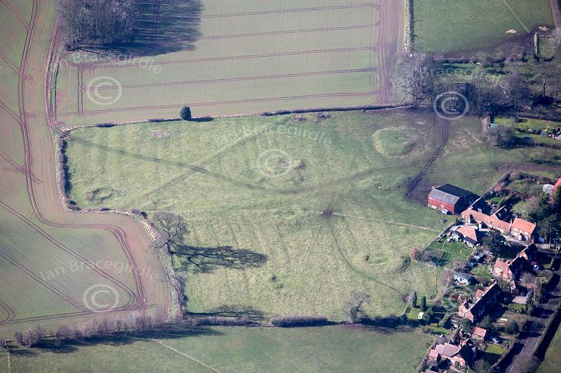 Aerial photo of Broad Oak Farm in Strelley,.
