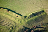 Burrough Hill Fort from the air.