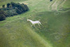 Cherhill White Horse near Avebury in Wiltshire from the air.