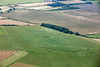 Windmill Hill in Wiltshire from the air.