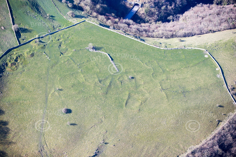 Chee Dale prehistoric settlement from the air.