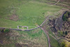 Milecastle 42 on Hadrians Wall from the air.