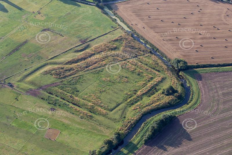 Aerial photo of Hawton Redoubt earthworks-3