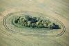 Aerial photo of Deadmen's Graves neolithic Long Barrow.