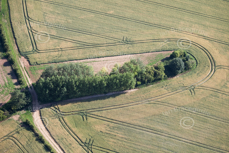 Deadmens' Graves Long Barrow from the air.