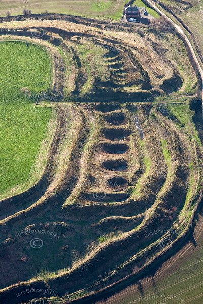 Old Oswestry Hill Fort from the air.