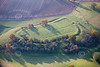 Oxton Hill Fort from the air.
