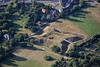 The Queens Sconce in Newark from the air.