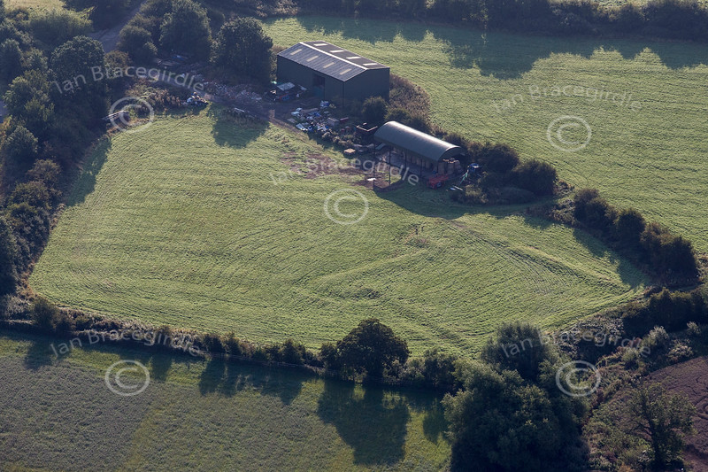 Aerial photo of Sandhills Sconce in Nottinghamshire.