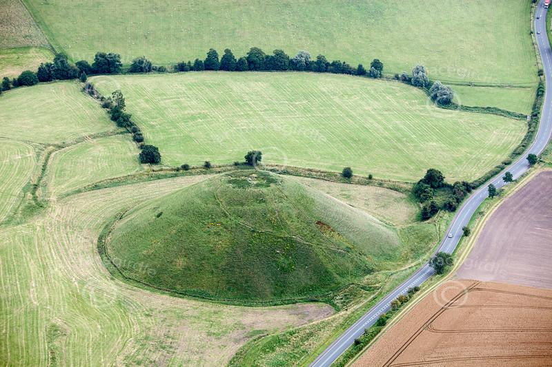 Aerial photo of Silbury Hill.