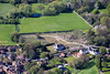 Former Minster School archaeological dig site in Southwell from the air.