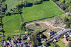 Aerial photo of former Minster School archaeological dig site.