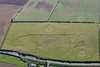Whimpton Moor earthworks from the air.