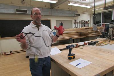 Mr. Wegner discusses power tool cords