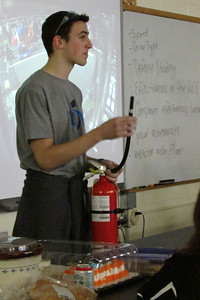During the Fire Extinguisher safety demo, Curtis pulled off the hose.