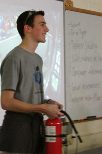 Fire Extinguisher safety- Curtis is still mocked for his extinguisher moment at competition last year