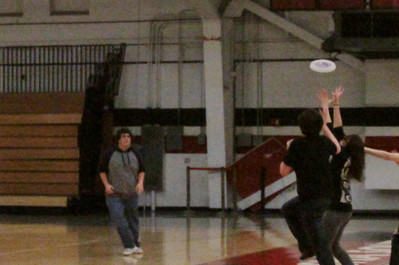 Ultimate Frisbee in the gym
