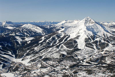 Lone Peak & Big Sky Ski Resort Aerial Photography by Jim R Harris
