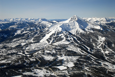 Lone Peak & Big Sky Ski Resort & Moonlight Basin Aerial Photography by Jim R Harris