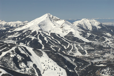 Big Sky Ski Resort & Lone Peak Lone Peak Aerial Photography by Jim R Harris