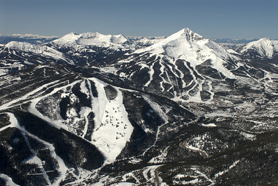 Lone Peak & Big Sky Ski Area Aerial Photography by Jim R Harris