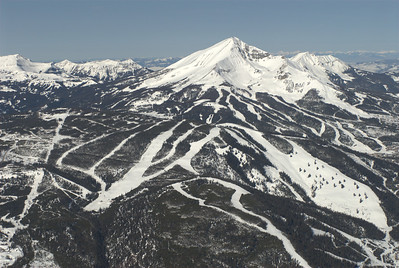Lone Peak, Big SKy Resort and Spanish Peaks Aerial Photography by Jim R Harris