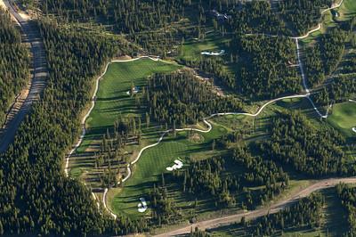 Moonlight Basin Golf Course Aerial Photograph - Jim R Harris