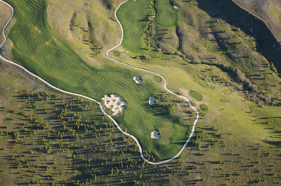 Aerial photo of Moonlight Basin Golf Course- Photography by Jim R Harris