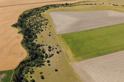 Aerial photo of farming - fileds Montana- Photography by Jim R Harris