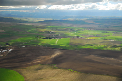 Aerial photo of Montana fields and irrigation- Photography by Jim R Harris