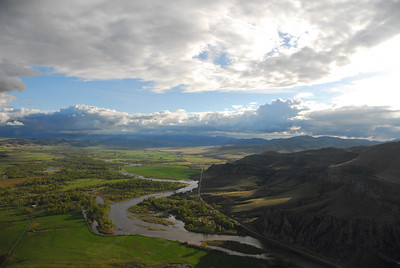 Aerial view of the Jefferson River Valley and Tobacco Root Mountains - Photography by Jim R Harris