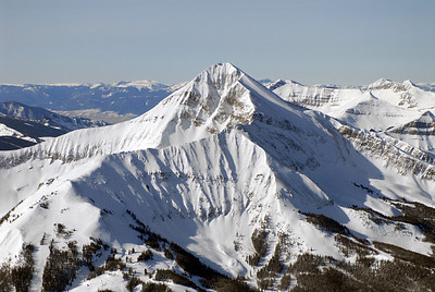 Aerial photo of Lone Peak - Big Sky & Moonlight Ski resorts - The Headwall- Photography by Jim R Harris