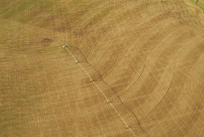 Aerial photo of filed and center pivot - Photography by Jim R Harris