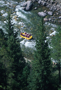 Gallatin River Montana - Aerial Photo of river rafting whitewater Gallatin Canyon - Photography by Jim R Harris