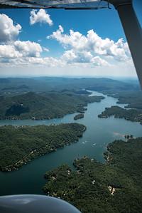 Lake Burton with Charlie Mountain on Left