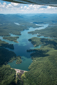 Lake Burton from dam looking north