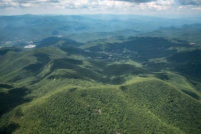 Rabun Bald in foreground, Sky Valley in center, Dillard to left