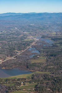 Little Tennessee River flowing to Franklin