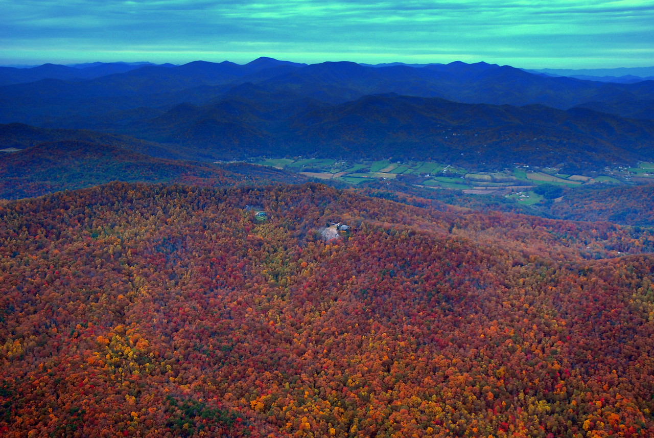 Black Rock Mountain and Wolffork Valley in fall color