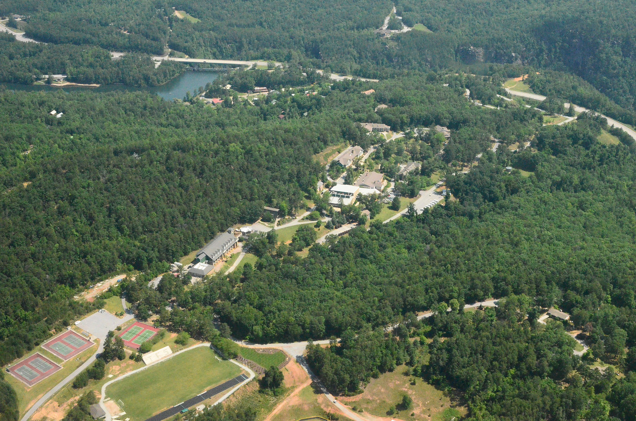 Tallulah Falls School, with Lake Tallulah and Tallulah Gorge in background