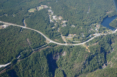Tallulah Gorge, deepest canyon east of the Mississippi, and the town of Tallulah Falls