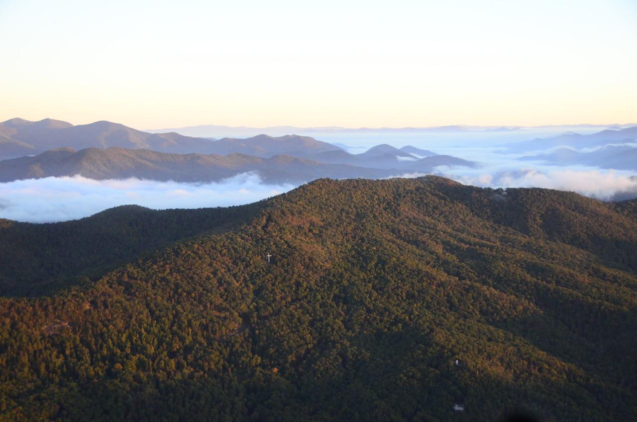 The Rabun Cross on Black Rock Mountain