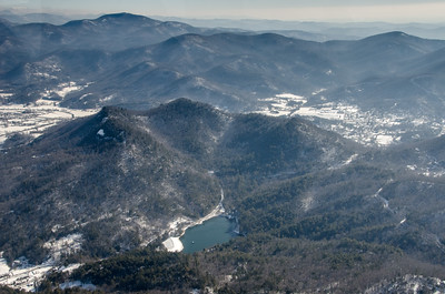 Black Rock Park Lake, Rabun Bald in upper left