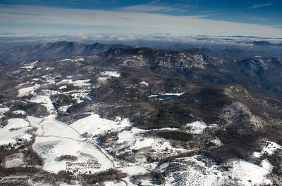 Scaly Mountain with Rocky Knob Lake