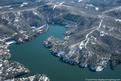 Lake Rabun - Spillway Basin - Shady Lane on ridge