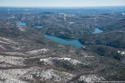 Lake Rabun - Big Basin in center